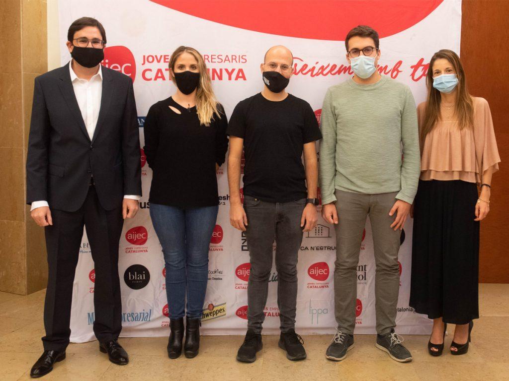 Marc Coloma, Andreu Dotti i Sara Serantes, finalistes del Premi Jove Empresari de l'AIJEC